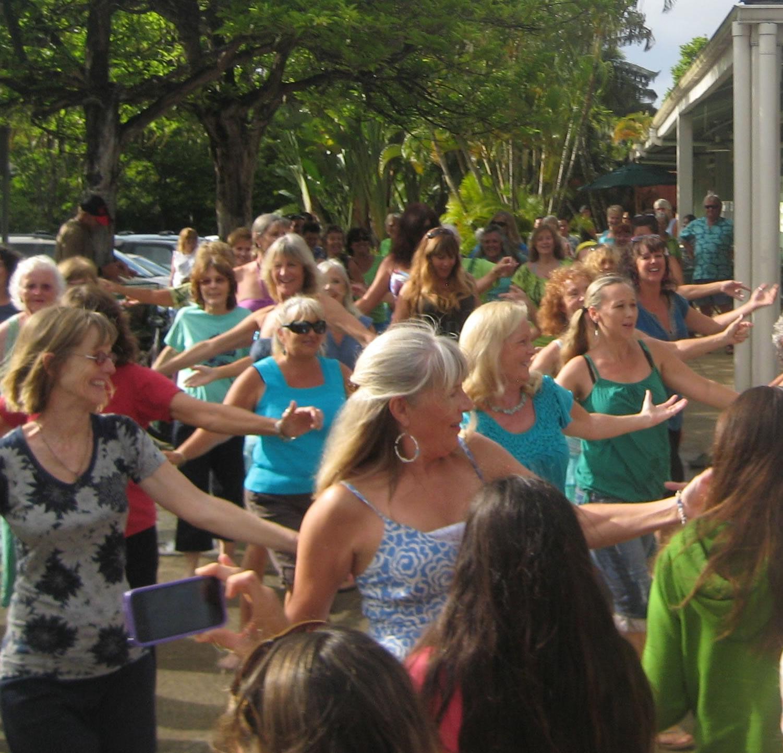 Flash Mob… or Flash Hula?