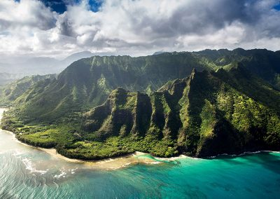 Aerial Ke'e Beach, Haena, Kauai
