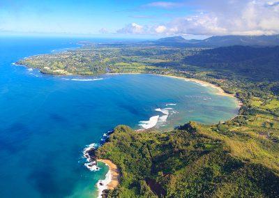 Hanalei Bay, Kauai, aerial view
