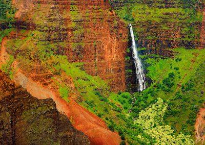 Waterfall at Waimea Canyon, Kauai