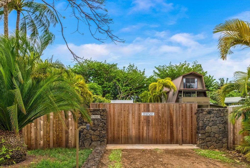 Makana Aloha Haena Rental gated entrance