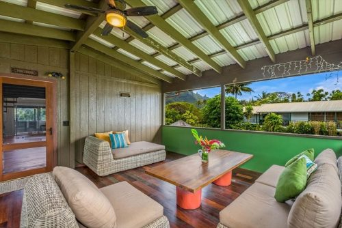 Makana Aloha Haena Rental Sitting area