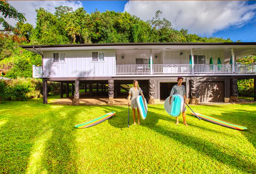 Kalihiwai Beach House rental stand up paddleboarding