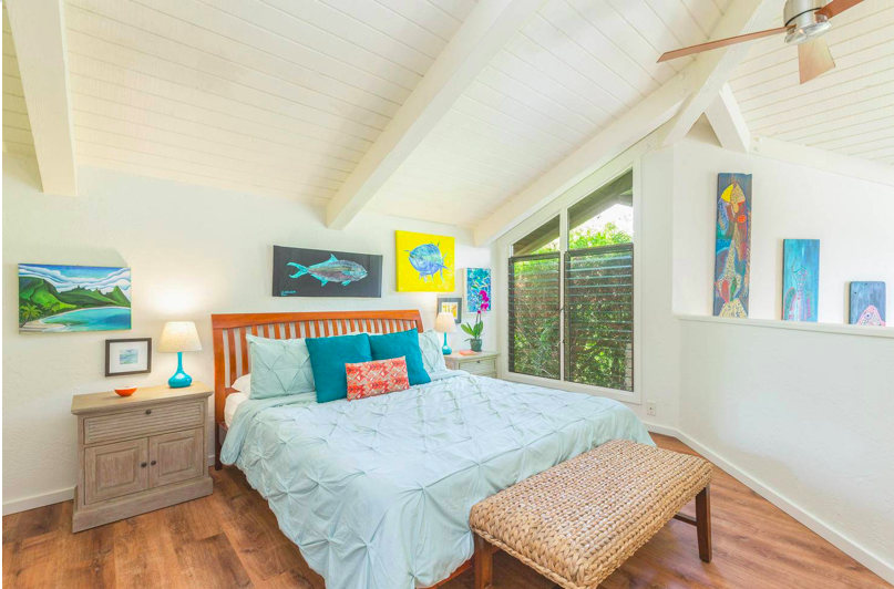 Paliuli #1 Princeville Vacation rental bedroom