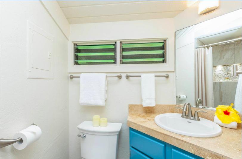 Paliuli #1 Princeville Vacation rental bathroom