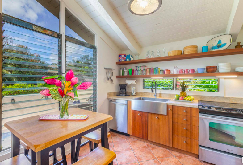 Paliuli #1 Princeville Vacation rental kitchen and dining