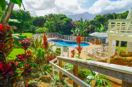 Kekua Princeville Vacation Rental Pool view