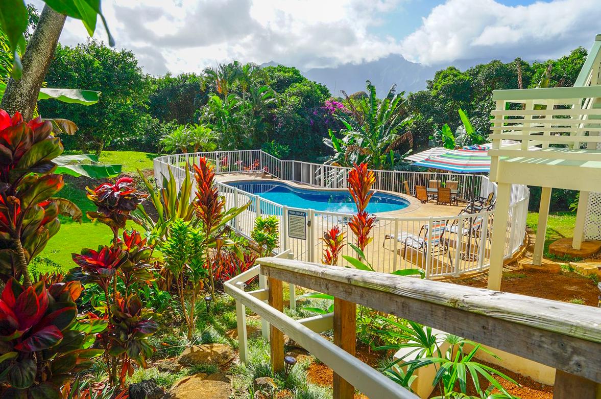 Kekua Princeville Vacation Rental Pool view