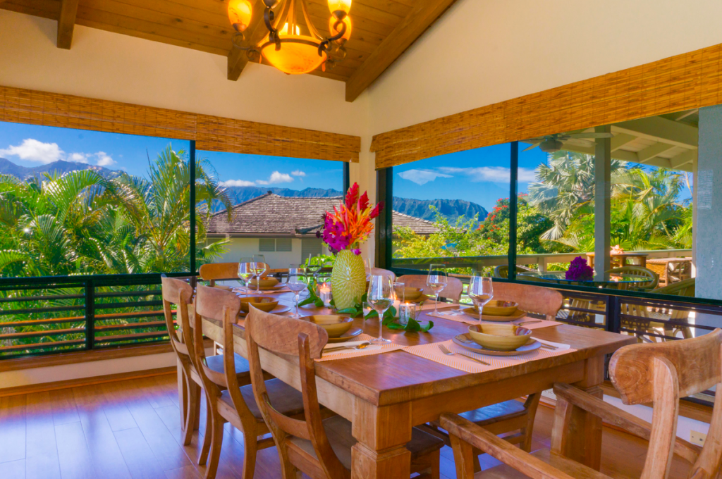 Kekua Princeville Vacation Rental dining room
