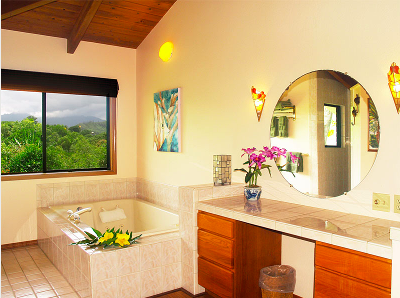 Kekua Princeville Vacation Rental master bathroom