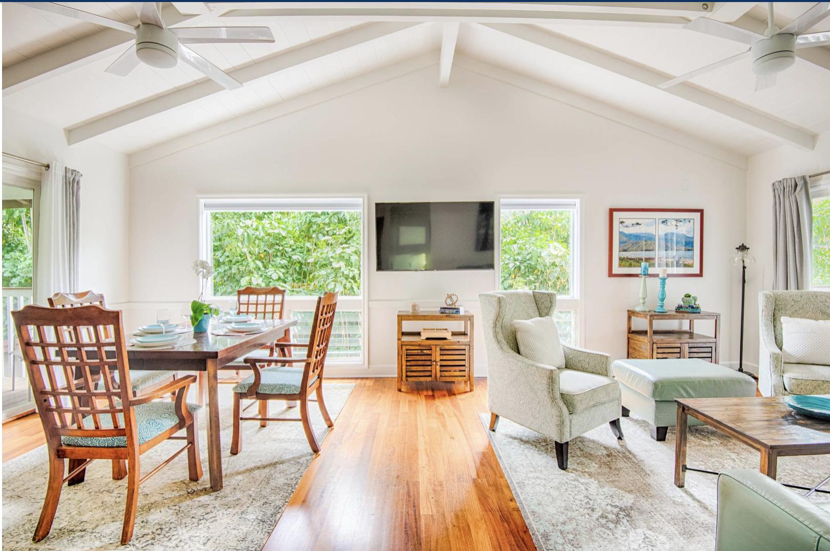 Hale Kauai Haena great room