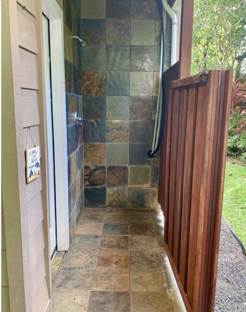 Hale Kauai Haena outdoor shower
