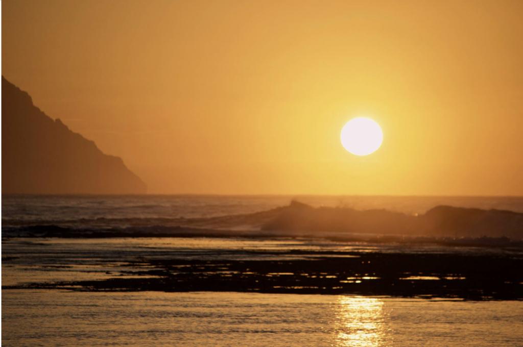 Sunset from Hale Kauai Haena