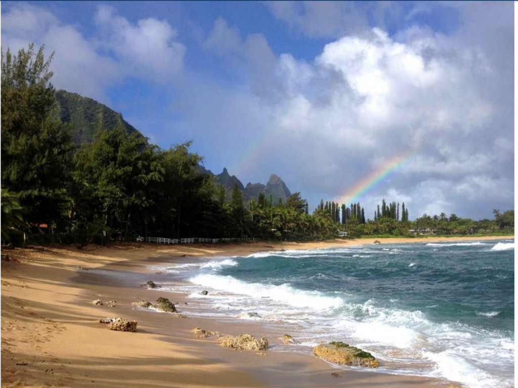 Beach fronting Hale Kauai Haena